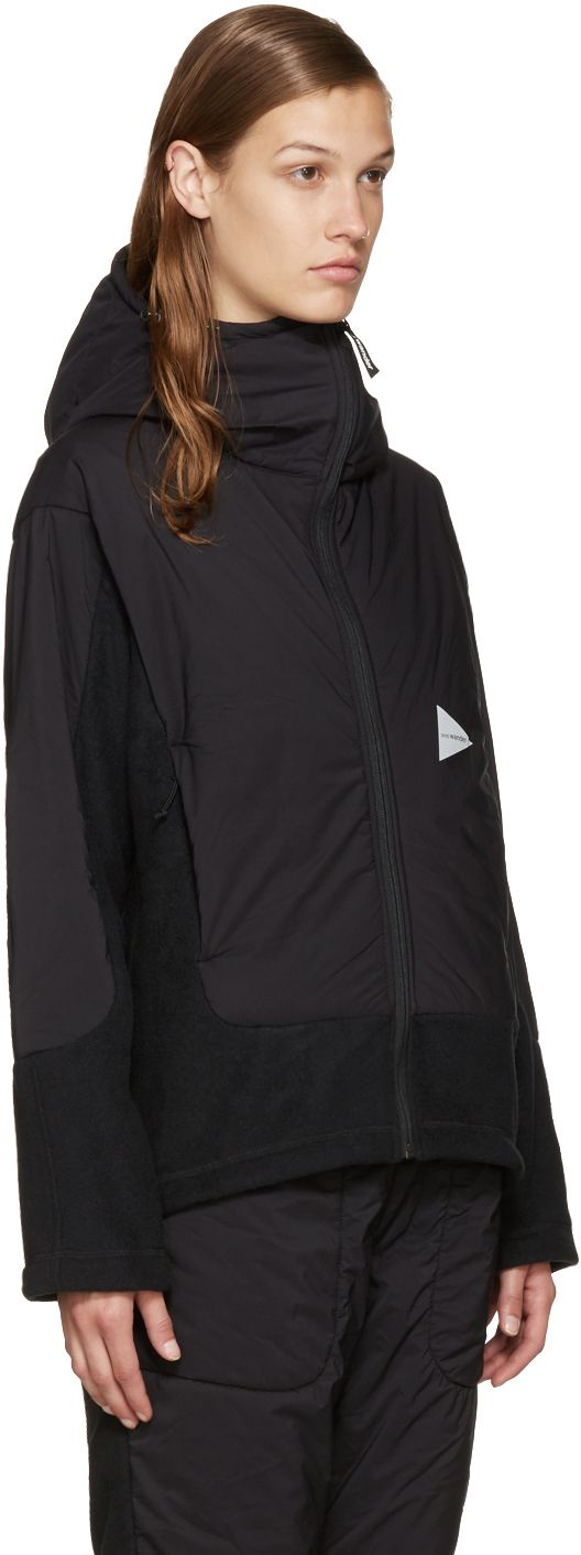 and Wander: Black Twill Fleece Jacket | SSENSE
