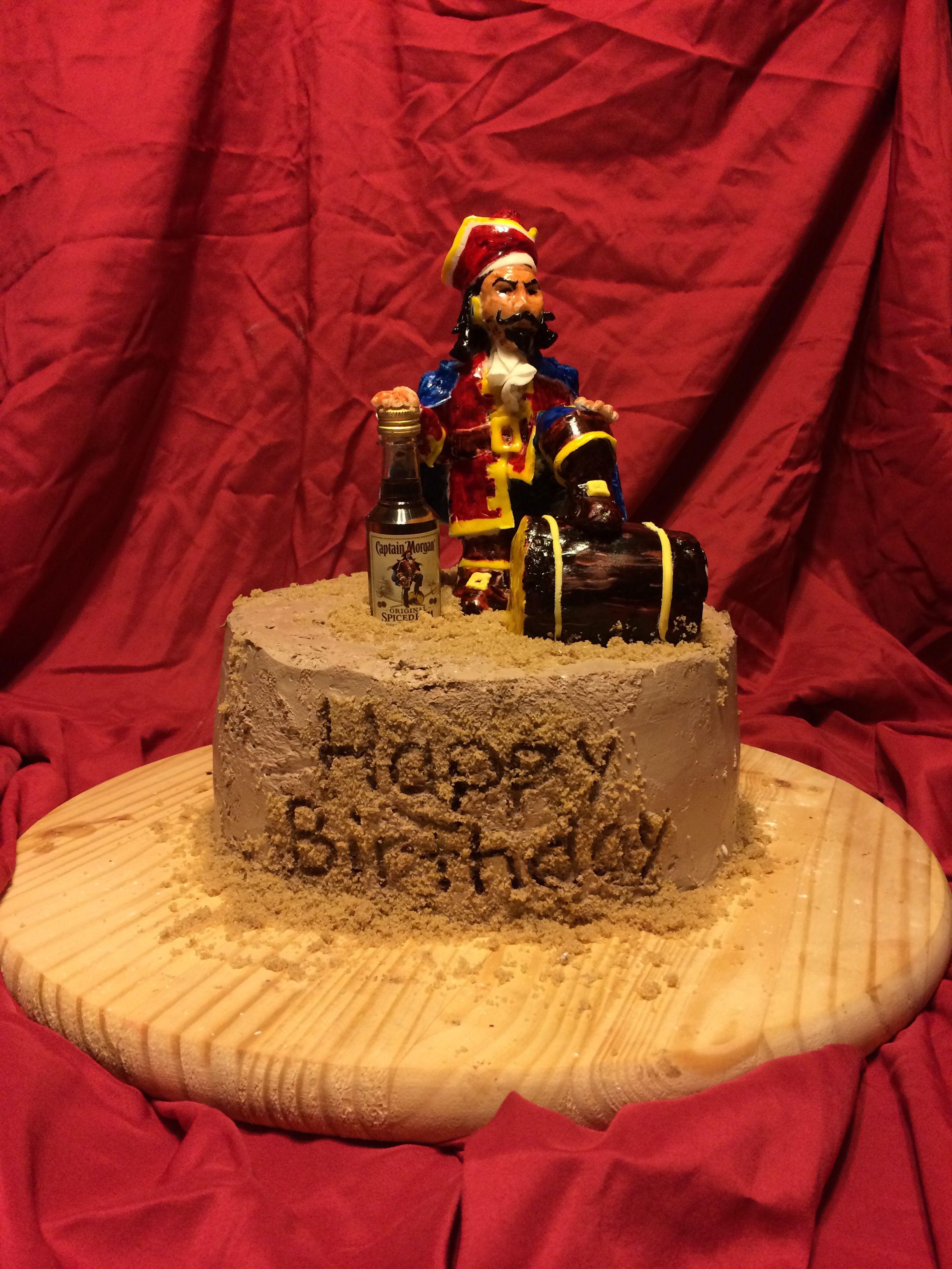 Superb Captain Morgan Cake By Beautiful Bakes Custom Cakes Buffalo Ny Funny Birthday Cards Online Necthendildamsfinfo