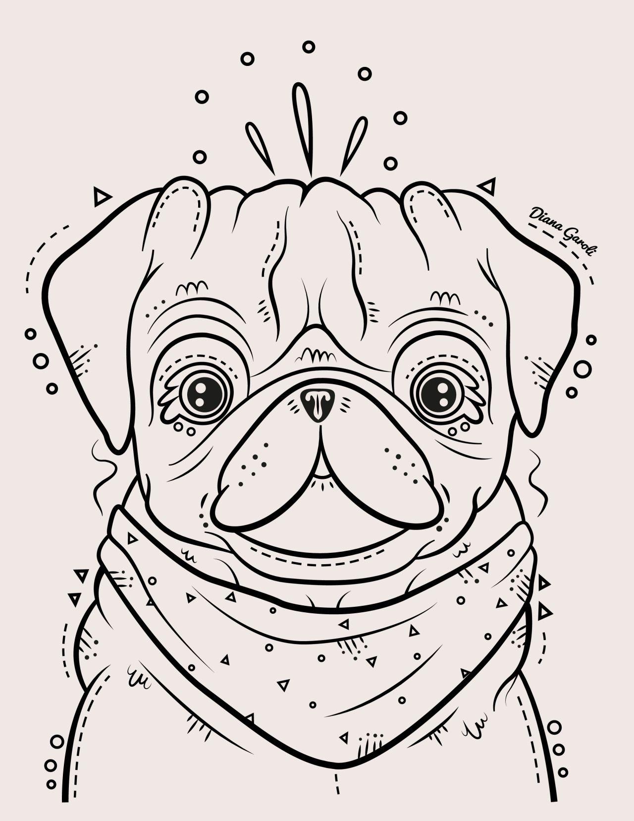 Diana Garoli — Pug | Pug Life | Pinterest | Pug, Mandalas y Plantas