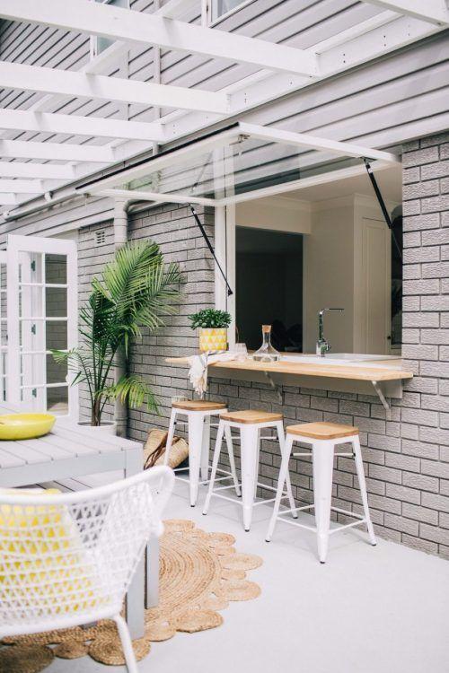 Kitchen Window Outdoor Bar Ideas