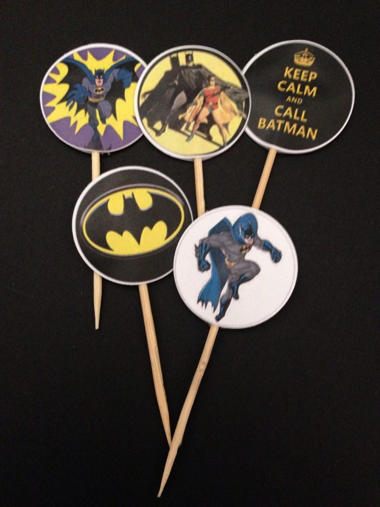 Batman Cupcake/cake Toppers 15pcs - Party, Decoration, Robin, Birthday