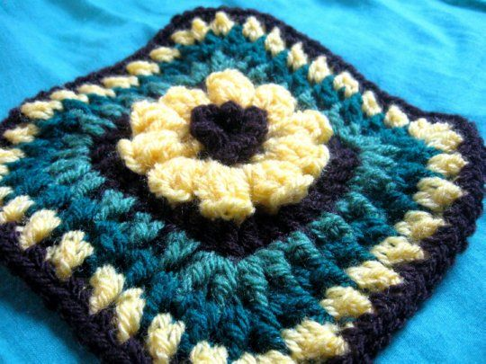 Flower Granny Square - Meladoras Creations Free Crochet Patterns ...