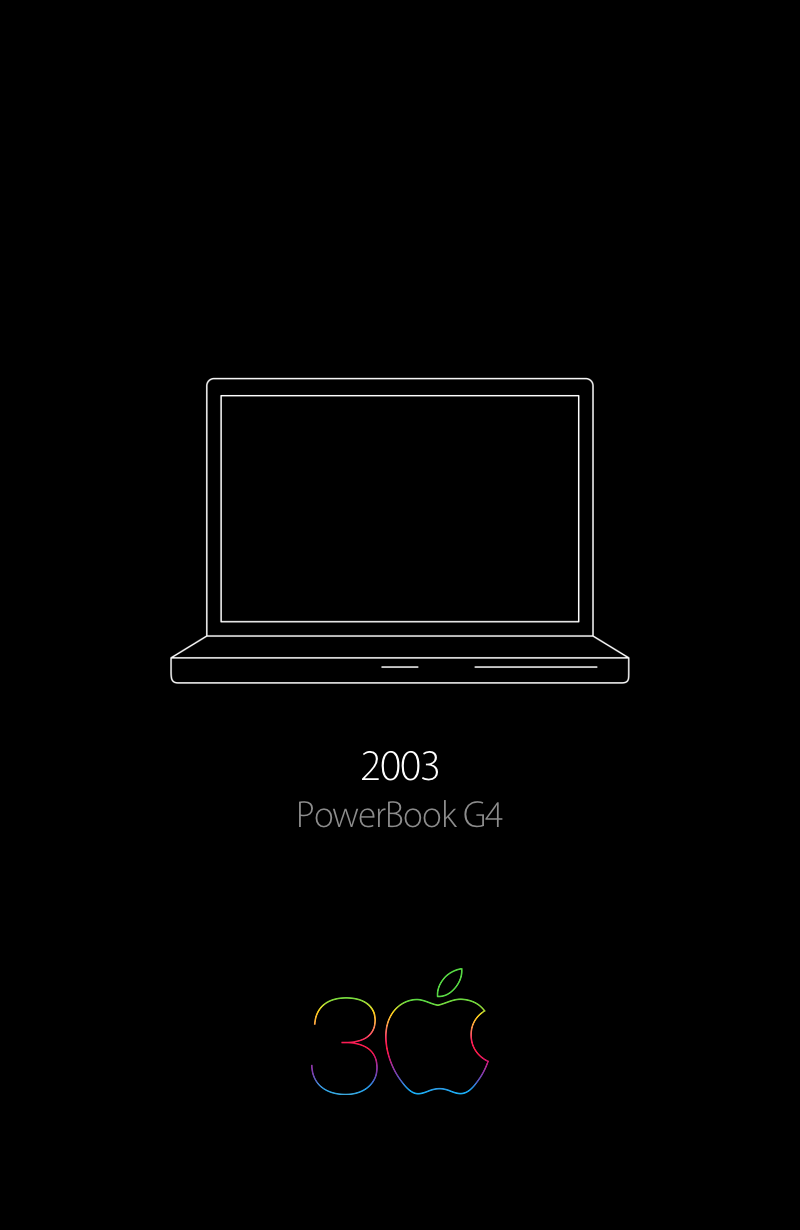 My first Mac was the PowerBook G4, in 2003  And I've been using a