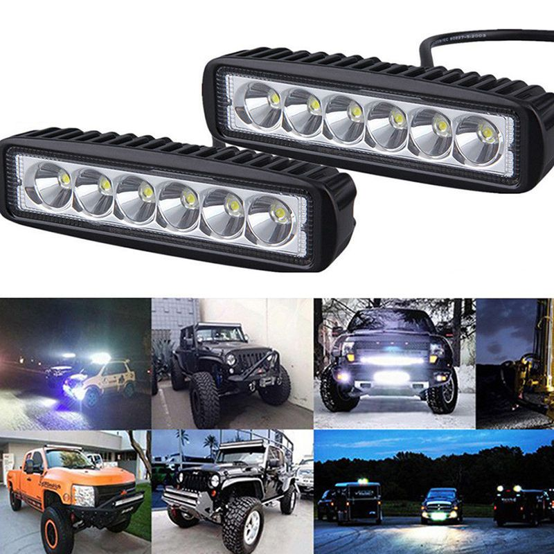 2x 18w Spot Led Bar Bright Light Boat Car Truck Lamp Suv Off Road Tractor Set Led Work Light Waterproof Car Work Lights