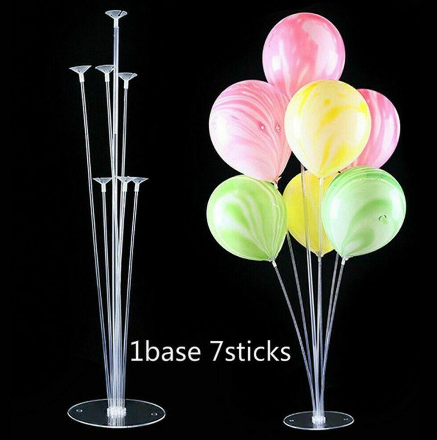 3Set Balloon Stand Holder Kit Ballon Column Birthday Party Wedding Base Sticks