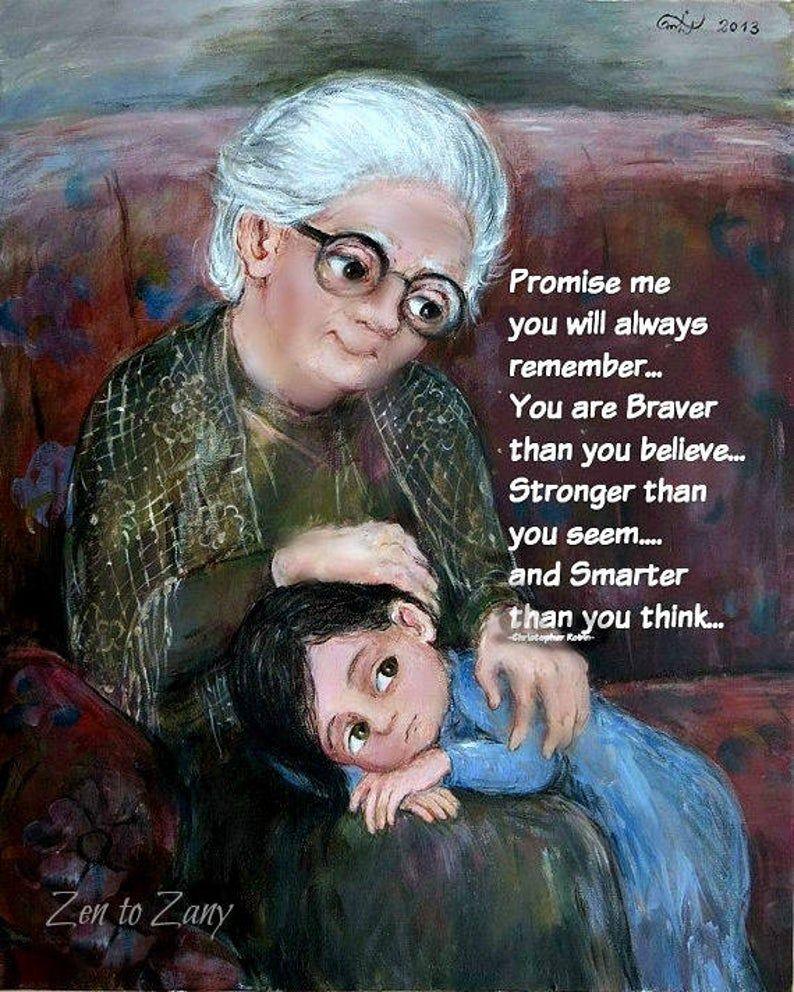 BRAVER AND SMARTER.(Item #24) Prints or Greeting Card by Nino Chakvetadze . No Zen to Zany watermark