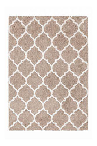 Teppich Wohnzimmer Carpet Hochflor Shaggy Design Smooth 250 RUG Netz - Teppich Wohnzimmer Braun