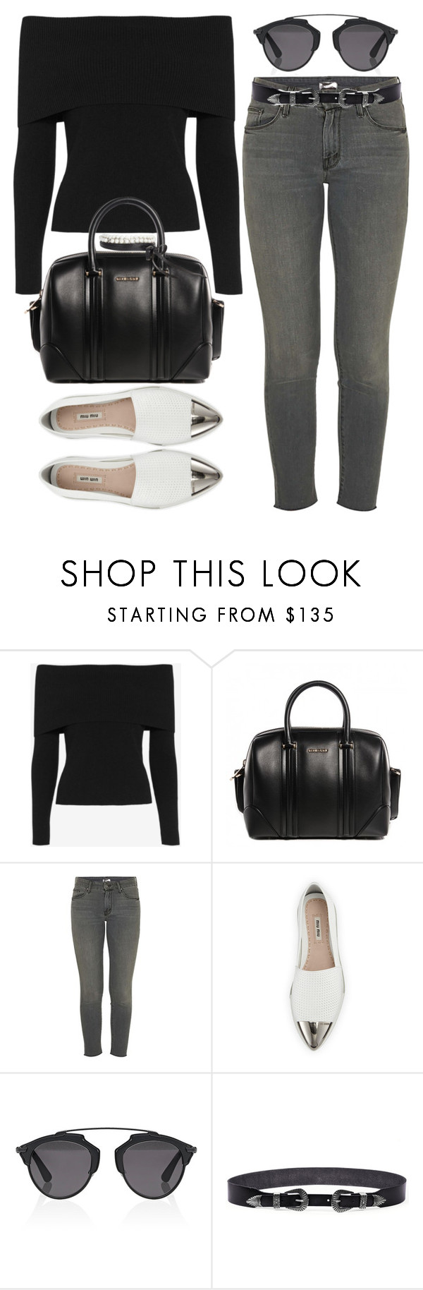 """""""Untitled #2403"""" by briarachele on Polyvore featuring A.L.C., Givenchy, Mother, Miu Miu, Christian Dior, Linea Pelle and Fallon"""