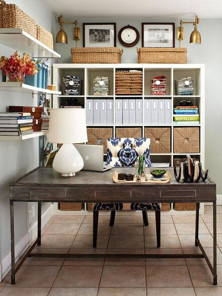 Home Office Design Decorating Ideas: Decorating, Chic Small Home Office Interior Design And