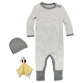 Burts Bees Baby Clothes Amusing Newborn Burt's Bees Baby™ Coveralhat & Lovey  Gray  Baby Clothes Design Decoration