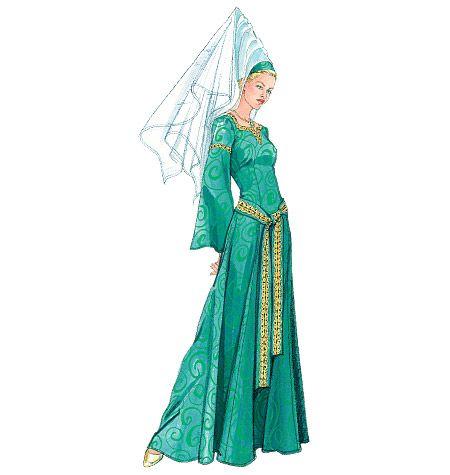 Patrón McCall para vestidos medievales M5499 | Moda | Pinterest ...