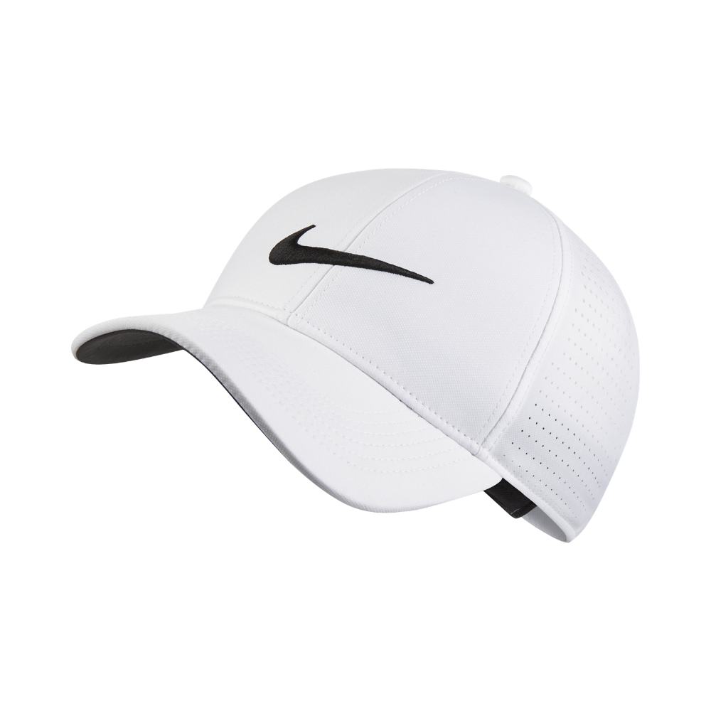 fed4ad4ccae Nike Legacy 91 Perforated Adjustable Golf Hat (White)