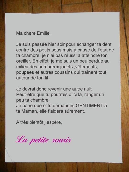 Lettre De La Petite Souris Déco Insolite Pinterest