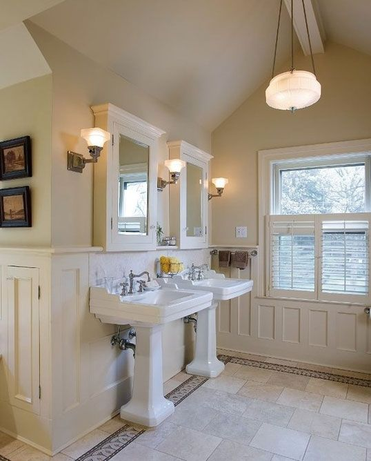 39 Of The Best Wainscoting Ideas For Your Next Project Home Remodeling Contractors Craftsman Bathroom Traditional Bathroom