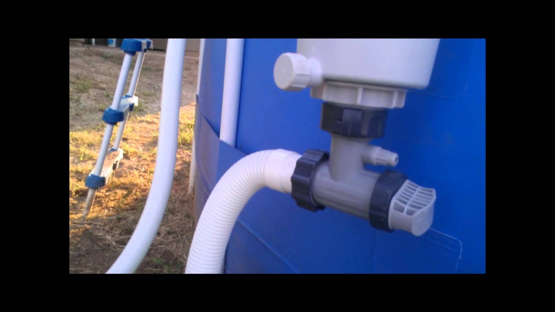 Intex Pool Pump Youtube Converting The Summer Escapes Pool Filter To Intex Filteration For
