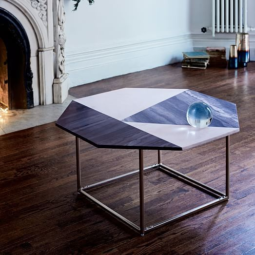 Marquetry Marble Coffee Table Westelm Marble Coffee Table West Elm Coffee Table Marble Coffee Table
