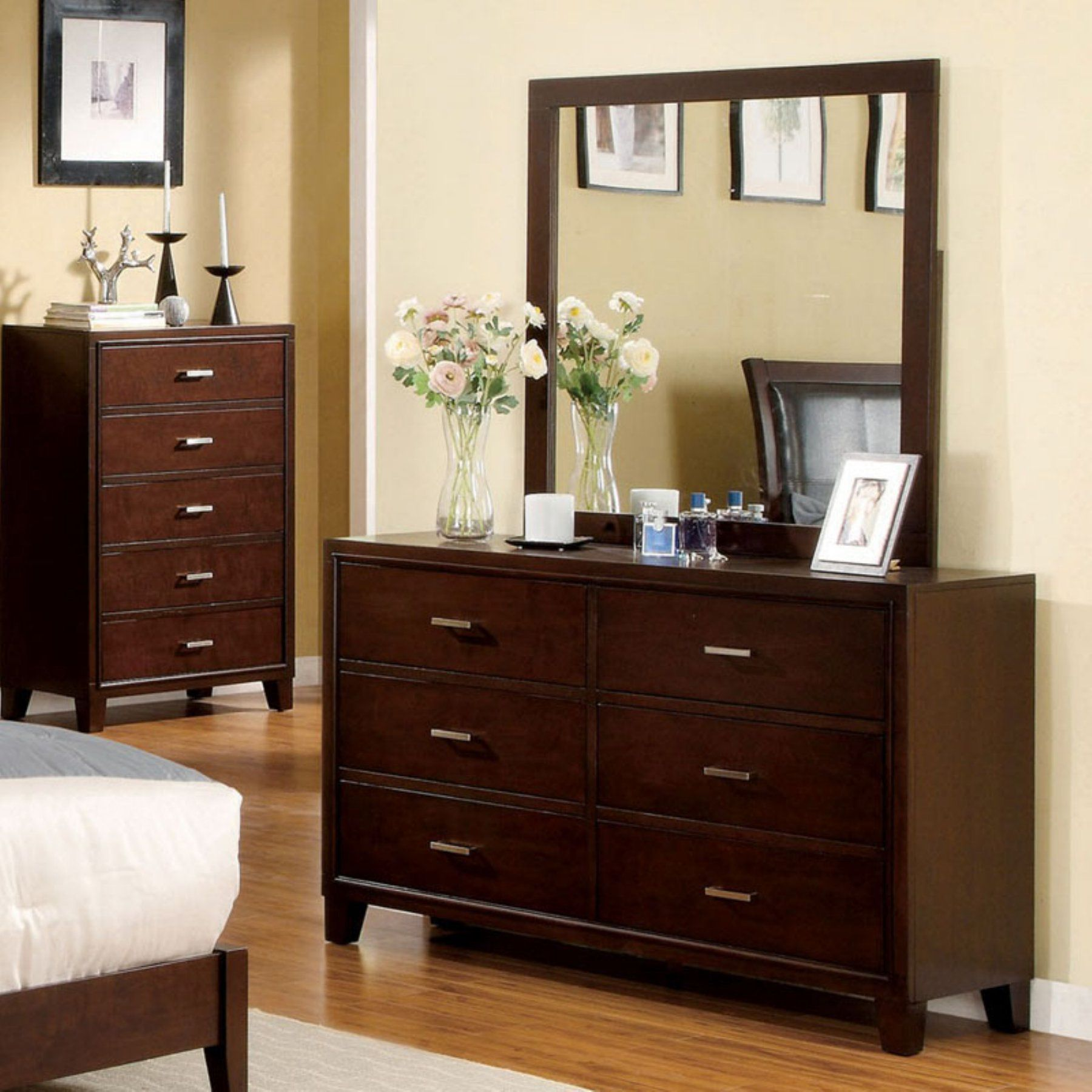 Espresso Versus Cappucino Dresser Design Furniture Of America