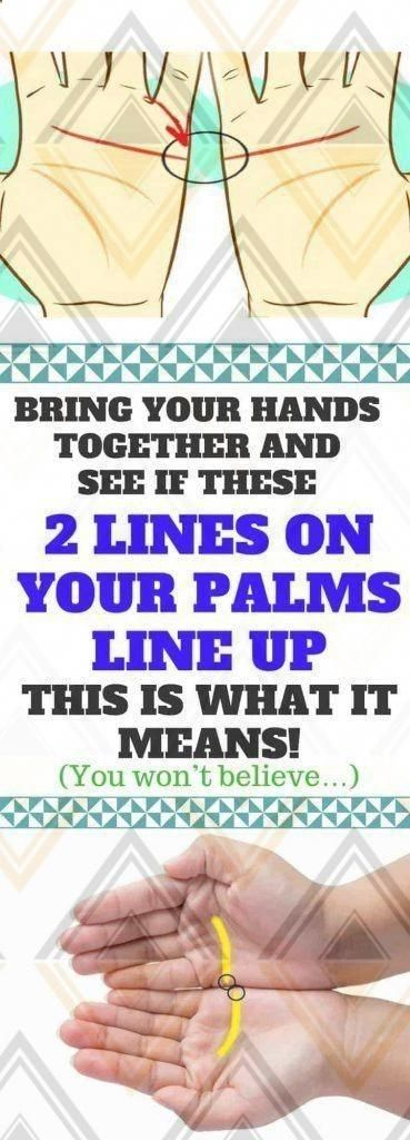 Bring Your Hands Together And See If These 2 Lines On Your Palms Line Up