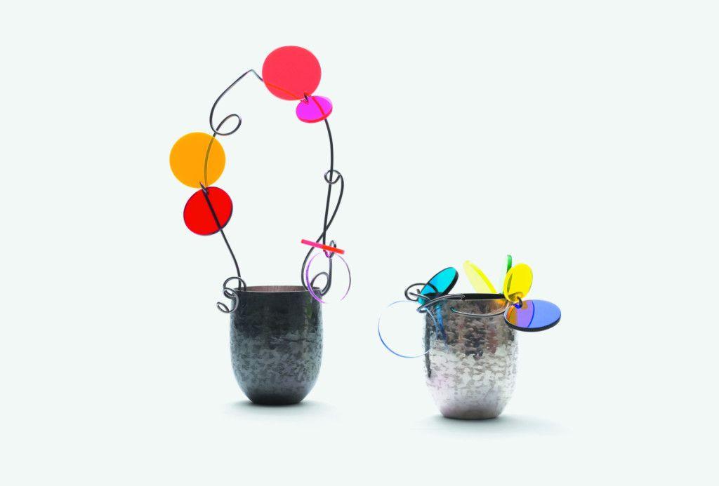 Paul Derrez, <em>Confetti-baskets</em>, 2013. Silver, acrylic