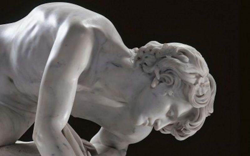Eugène-Ernest Hiolle (1834-1886)   Narcisse   1868   Marble, Musée des Beaux-Arts de Valenciennes   Valenciennes (France)