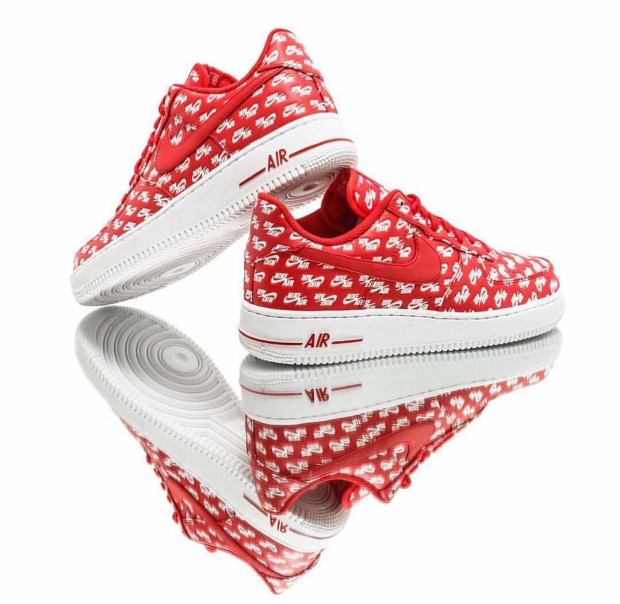 Nike Air Force 1 '07 QS 'University Red' – 'Air Emblazoned