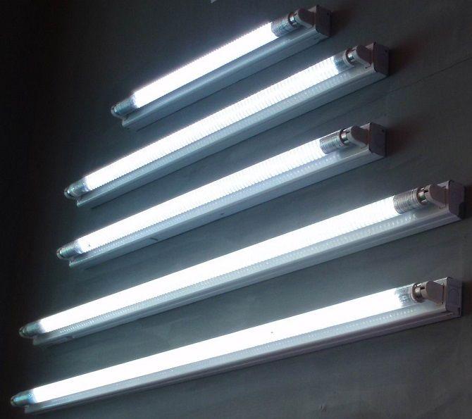 Changing A Fluorescent Light Tube Home Diy Fixes Fluorescent Light Bulb Fluorescent Tube Light Fluorescent Light Fixture