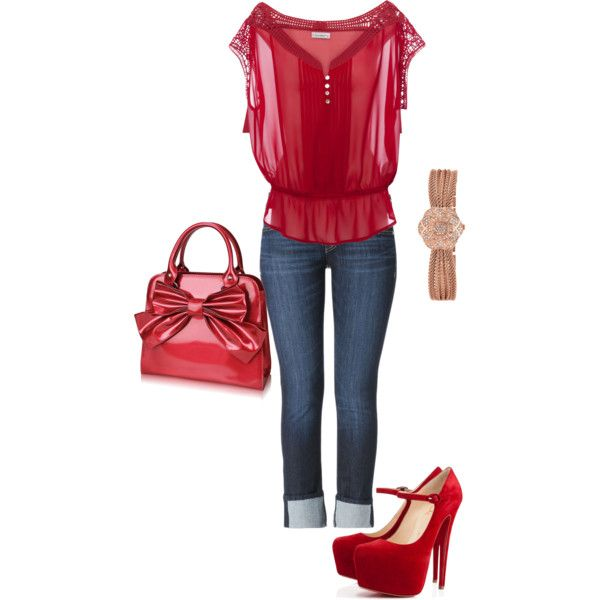 """""""Red"""" by stefaniemarie4 on Polyvore"""