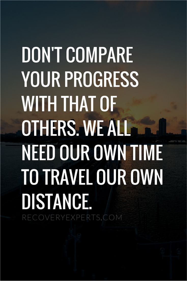 Motivational Quote Don't compare your progress with that