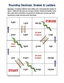5 nbt 4 rounding decimals game snakes and ladders series rounding decimals decimal games. Black Bedroom Furniture Sets. Home Design Ideas
