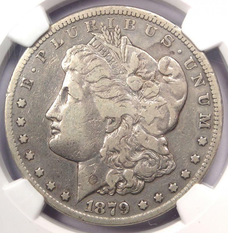 1879CC Silver Dollar 1 NGC VF Details Rare