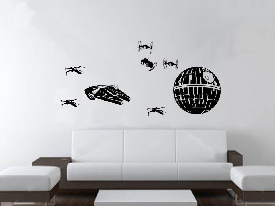 @Shay VanVlymen  Star Wars 8 piece Wall Decor. $28.00, via Etsy.