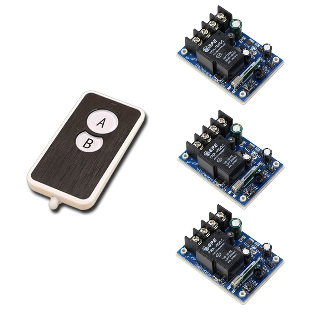 Channel Wireless Rf 30a Dc Remote Switch For Heavy Duty