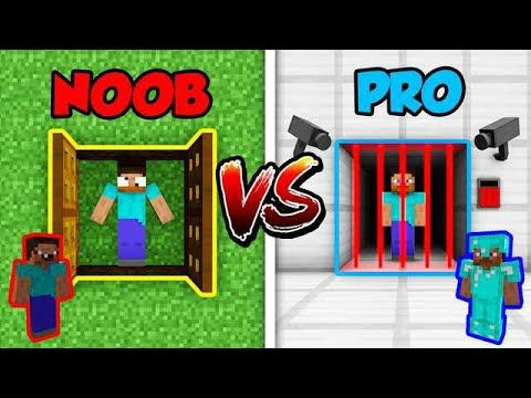 Minecraft NOOB vs. PRO PRISON ESCAPE in Minecraft! in