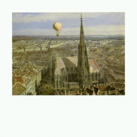 Balloon Ride over Vienna, c.1847 Posters by Jakob Alt at AllPosters.com