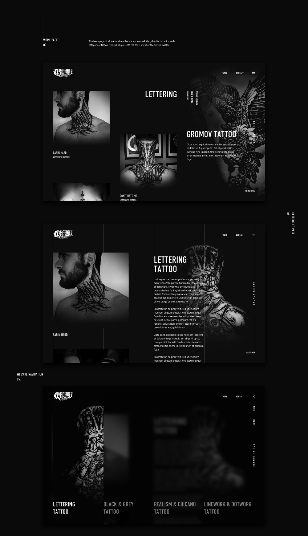 Pin By Evgeniy Lisovskiy On Tattoo Web Design Social Media Design Inspiration Design