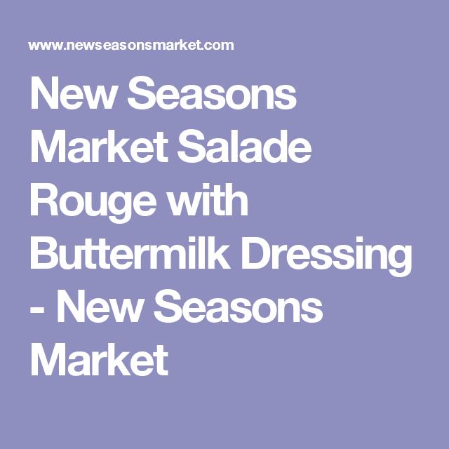 New Seasons Market Salade Rouge with Buttermilk Dressing - New Seasons Market
