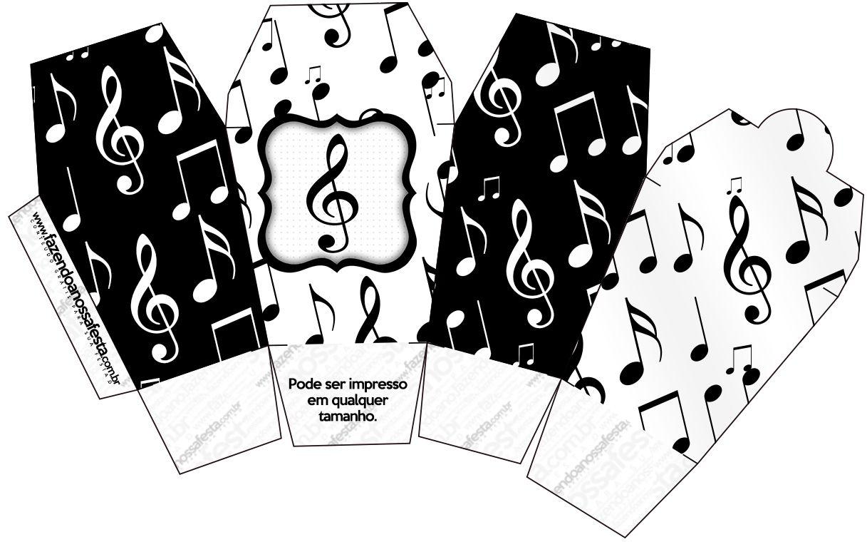 Caixa China in Box Notas Musicais | caixinhas | Notas ...