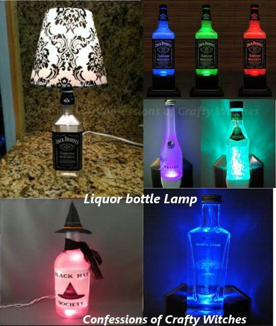Bottle lamp   Fun/cute stuff to make/do   Pinterest ...