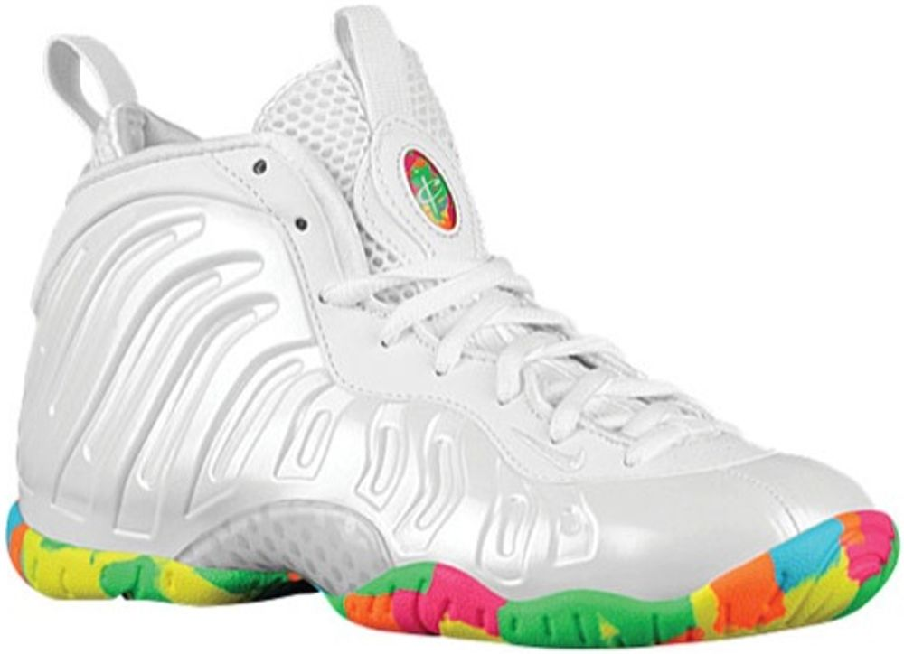 cheaper f536a e2159 Nike Little Posite One GS White Pink Foil-Cascade Blue-Poison Green