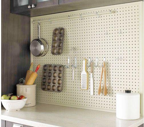 organizing - Kitchen Pegboard Ideas