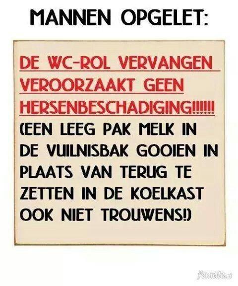 Grappige Citaten Vrouwen : Mannen wc rol huishouden spreuk citaat nederlands