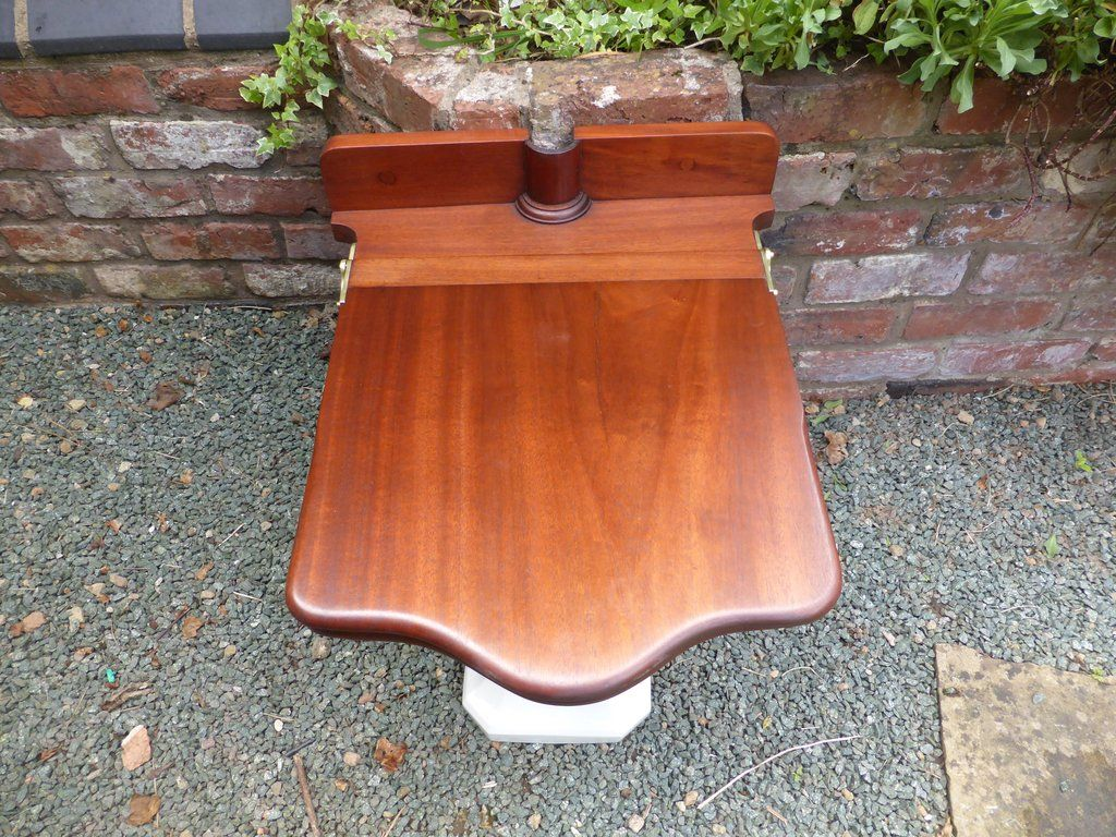 Terrific Antique Mahogany High Level Throne Toilet Seat With Lid Ibusinesslaw Wood Chair Design Ideas Ibusinesslaworg