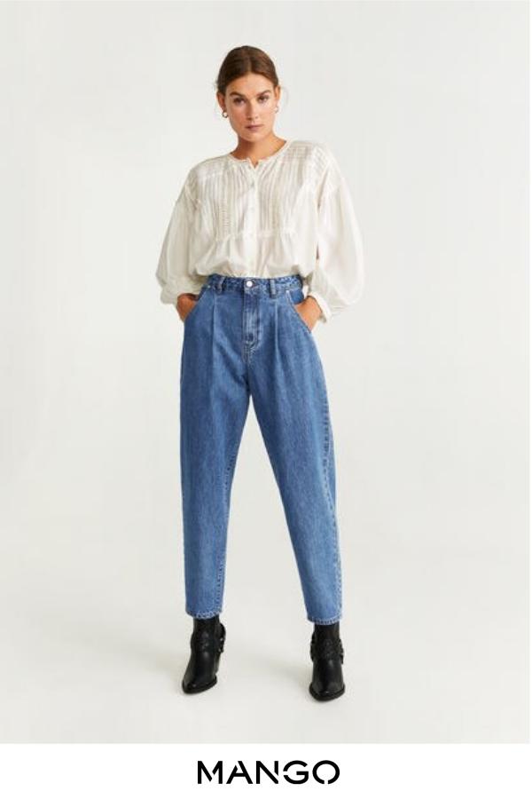 MANGO female Jeans Slouchy Regina azul medio MANGO