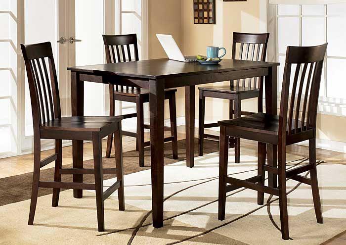 Goreeu0027s Furniture   Opelika, AL Hyland Rectangular Counter Height Table W/  4 Stools