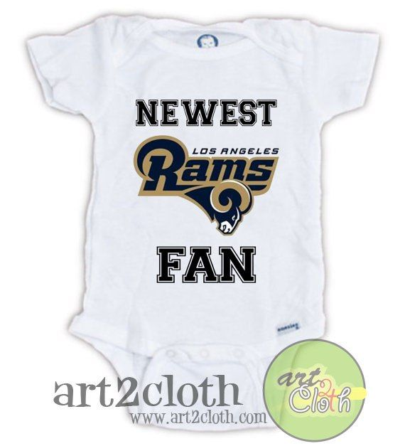 100% authentic 92977 5e5f5 Los Angeles RAMS Newest FAN Baby Onesie   Baby Onesies ...