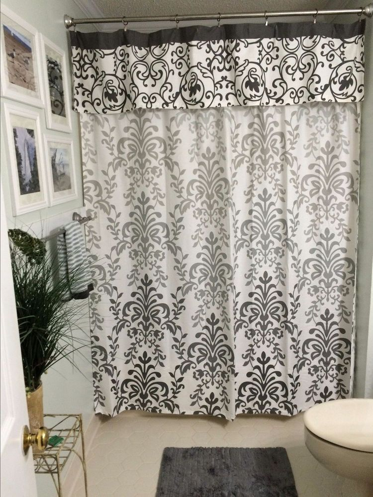 No Sew Shower Curtain Valance In No Time With Images Shower