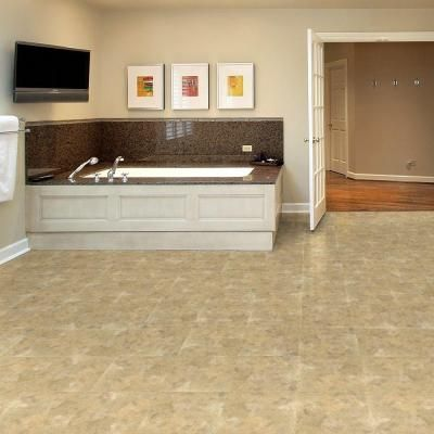 Trafficmaster Beige Slate 12 In X Vinyl Tile Flooring Tm806c The Home Depot