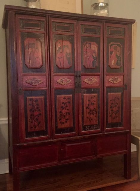 Antique Chinese cabinet - Loading Chinese Cabinet