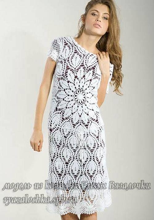 Patrón #760: Vestido Flor a Crochet | Proyectos que intentar ...