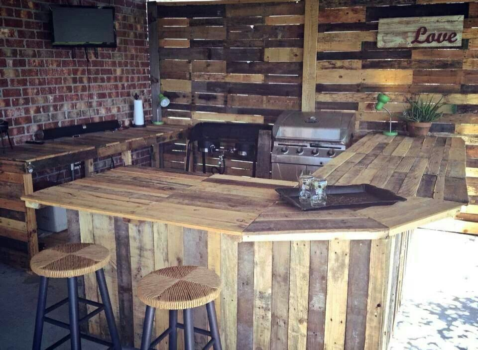 Pallet kitchen ideas for pallets pinterest casa del for Flat pack outdoor kitchen
